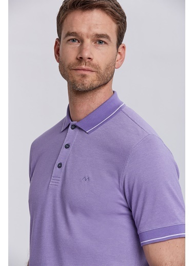 Hemington Lila Basic Pike Pamuk Polo T-Shirt Lila